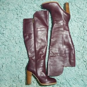 Luciana by Lane Bryant over the knee leather boots